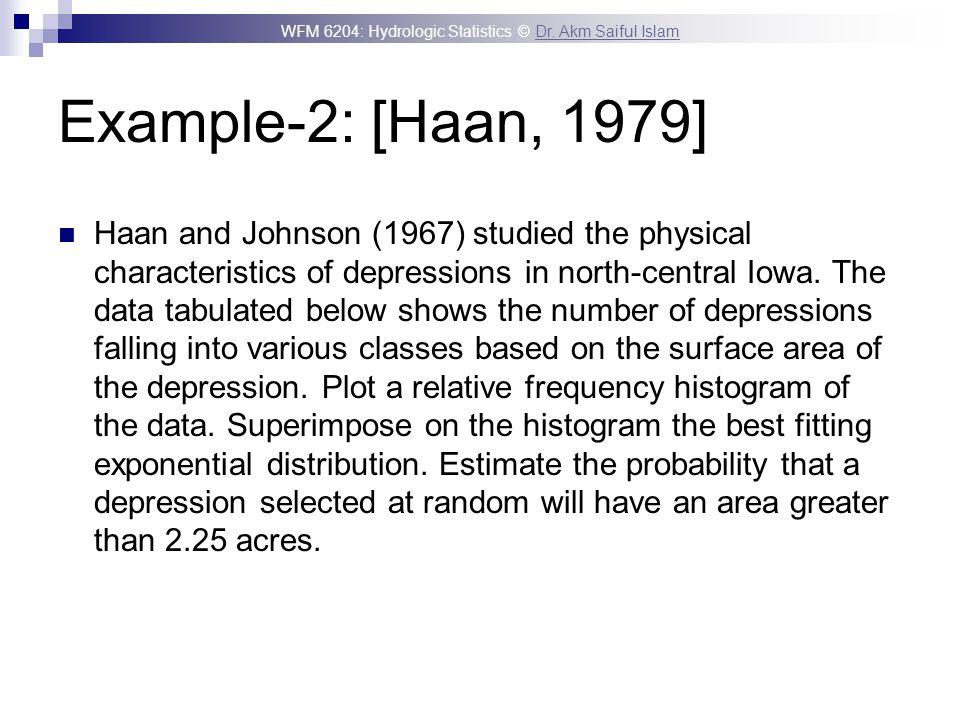 Example-2: [Haan, 1979]